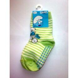 Hupikék Törpikék bébi csúszásgátlós zokni