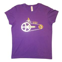 Biciklis női rövid ujjú póló