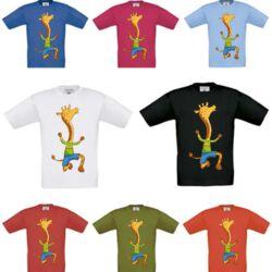 Zsiráf rövid ujjú póló