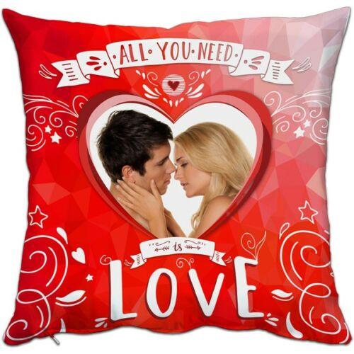 Nyomtatható párna Valentin piros 38x38cm