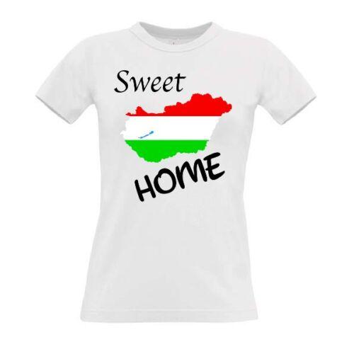 Sweet Home Hungary Egyedi női rövid ujjú póló
