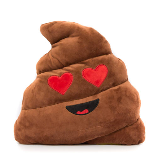 Szerelmes Kaki Emoji párna 32cm