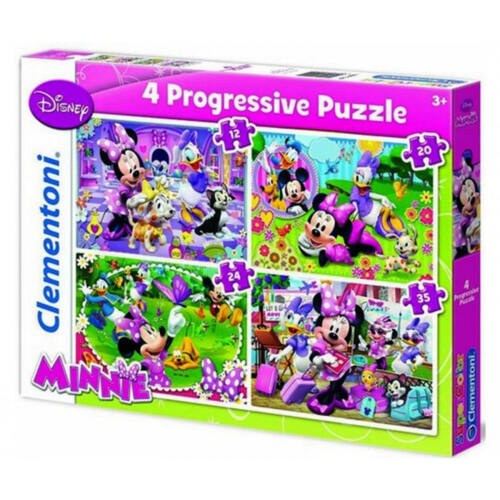 Minnie Egér Puzzle szett 20-12-24-35db